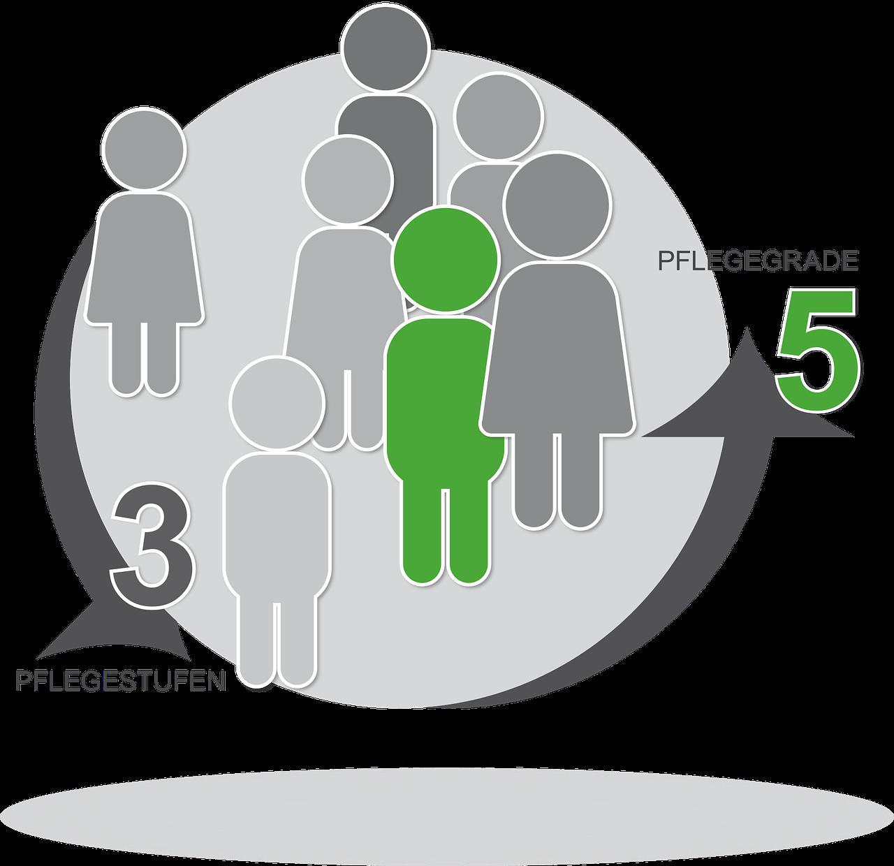 3 Pflegestufen werden 2017 5 Pflegegrade