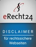 E-Recht24 rechtssicherer Disclaimer Andreas Scherff Consulting GmbH