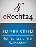 e-recht24 rechtssicheres Impressum Siegel auf Andreas Scherff Consulting GmbH